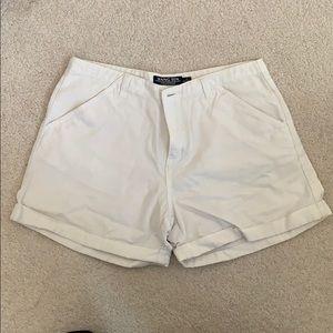 White Denim Cuffed Shorts by Hang Ten SZ S